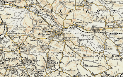 Old map of Auton Dolwells in 1898-1900