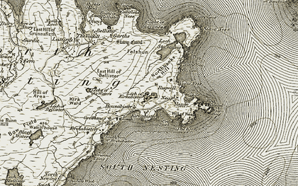 Old map of Wick of Neap in 1912