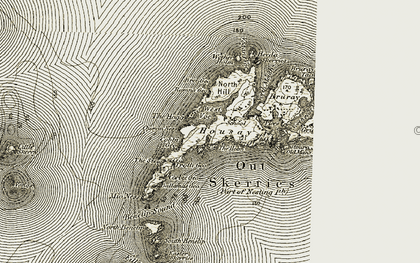 Old map of Wester Geo in 1912
