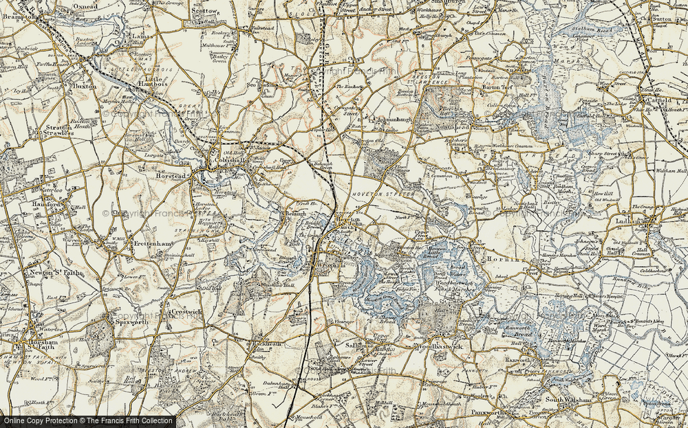 Old Map of Hoveton, 1901-1902 in 1901-1902