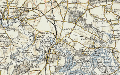 Old map of Hoveton in 1901-1902