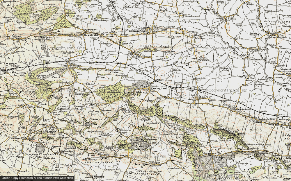 Old Map of Hovingham, 1903-1904 in 1903-1904