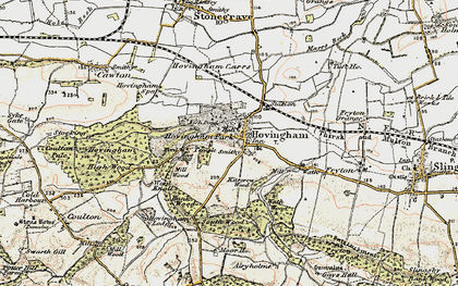 Old map of Hovingham in 1903-1904
