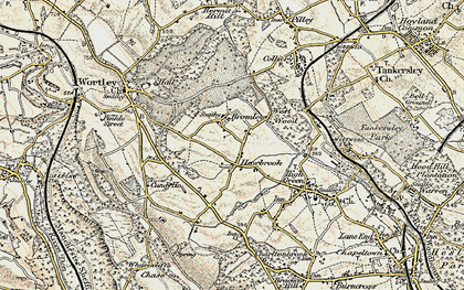 Old map of Howbrook in 1903