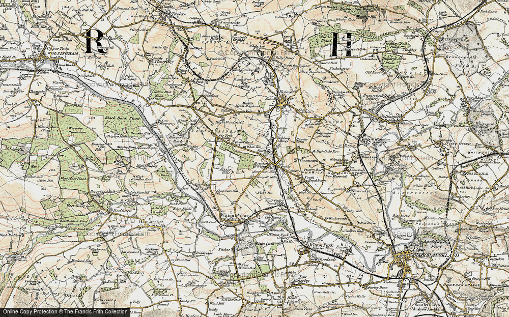 Old Map of Howden-le-Wear, 1903-1904 in 1903-1904