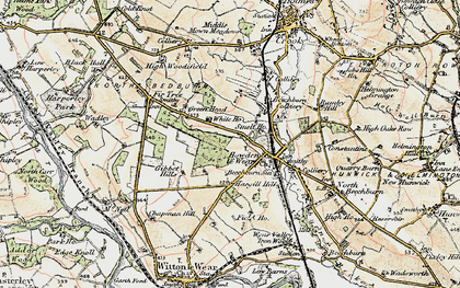 Old map of Howden-le-Wear in 1903-1904