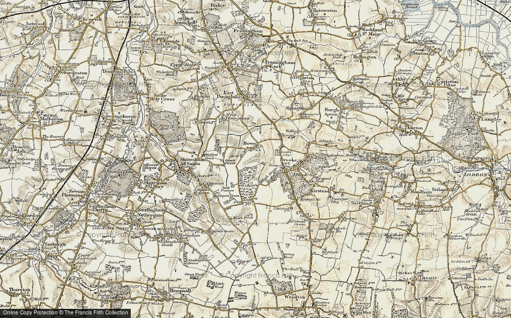 Old Map of Howe, 1901-1902 in 1901-1902