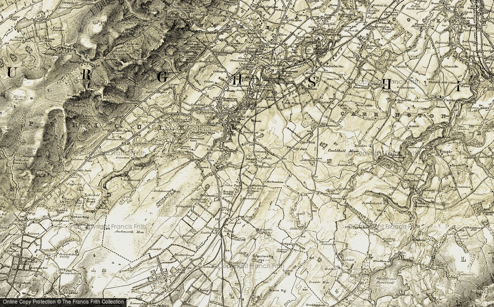 Old Map of Historic Map covering Lilyburn in 1903-1904