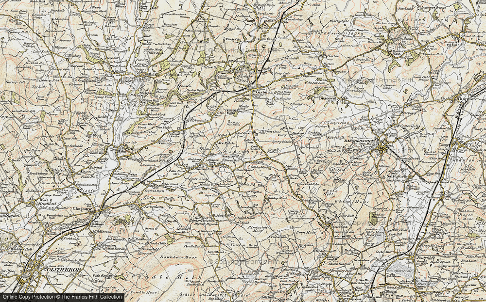 Old Map of Historic Map covering Lane Side in 1903-1904