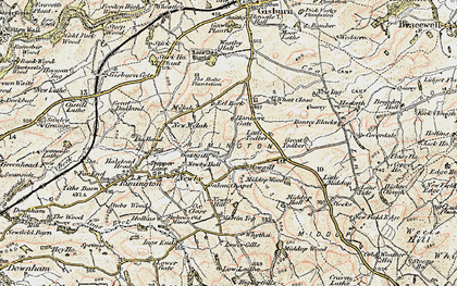 Old map of Lane Side in 1903-1904