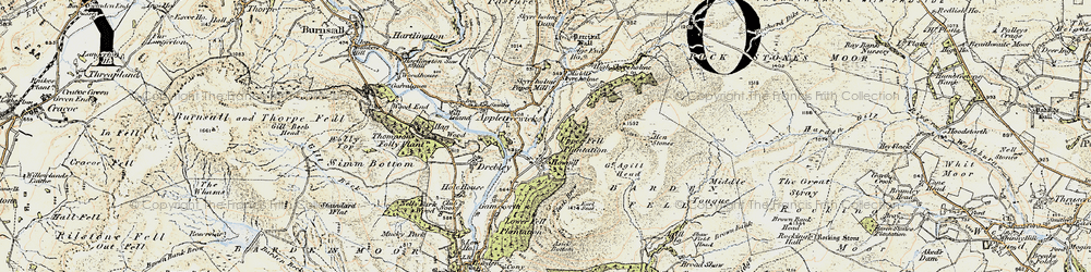 Old map of Agill Ho in 1903-1904