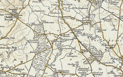 Old map of Ercall Heath in 1902