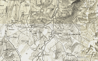 Old map of Whitton Loch in 1901-1904