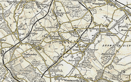 Old map of Hoyland in 1903