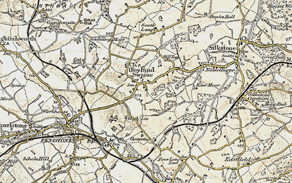 Old map of Hoylandswaine in 1903