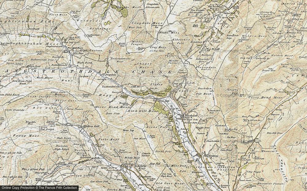 Old Map of Hubberholme, 1903-1904 in 1903-1904