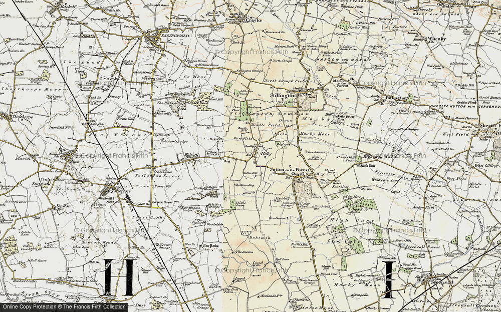 Old Map of Historic Map covering Barfs Hill in 1903-1904