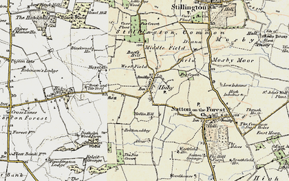 Old map of Barfs Hill in 1903-1904