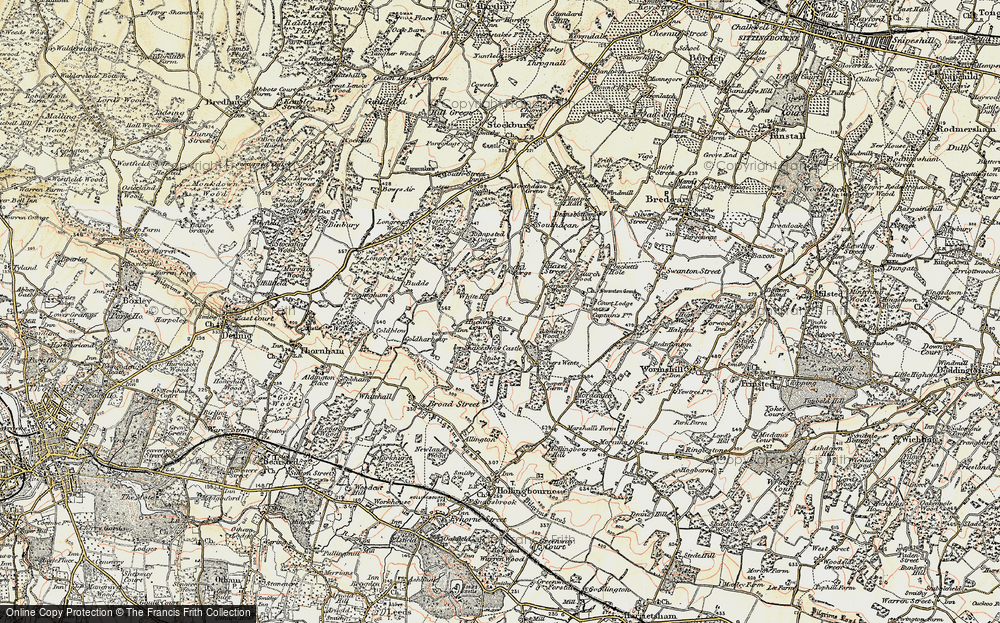 Old Map of Historic Map covering Admiral Ho in 1897-1898
