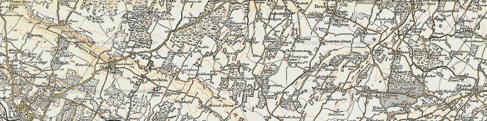 Old map of Admiral Ho in 1897-1898
