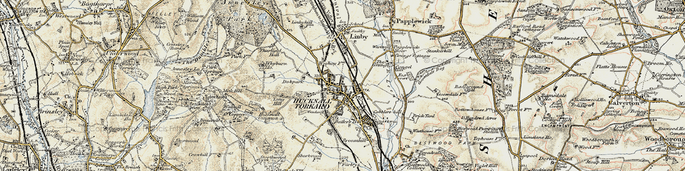 Old map of Wighay in 1902