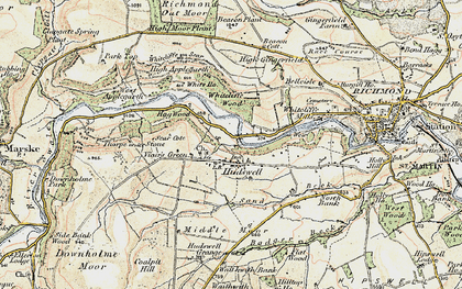 Old map of Whitcliffe Wood in 1903-1904