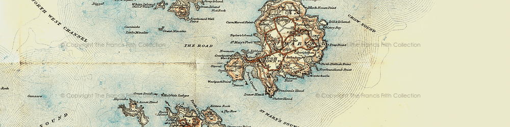 Old map of Woolpack Point in 0