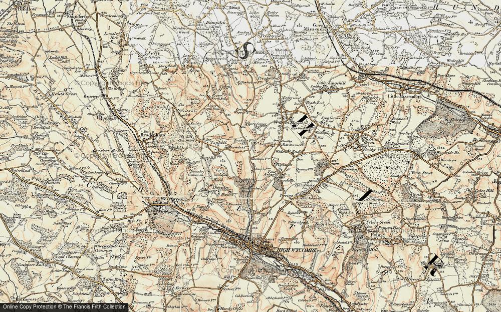 Old Map of Hughenden Valley, 1897-1898 in 1897-1898