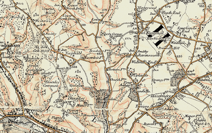 Old map of Hughenden Valley in 1897-1898