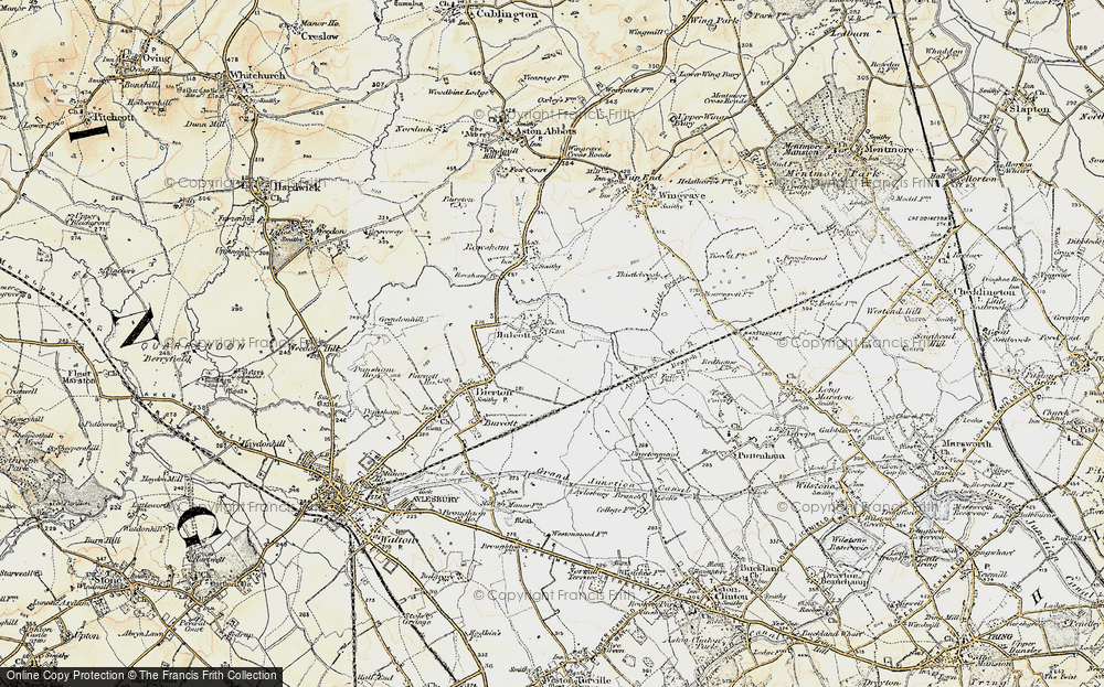 Old Map of Historic Map covering Aylesbury Ring in 1898