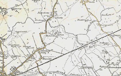 Old map of Aylesbury Ring in 1898