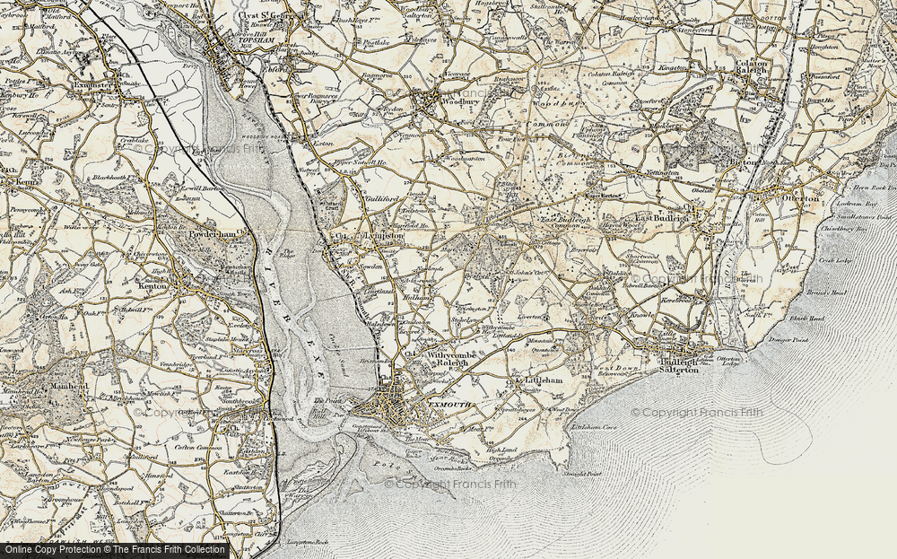 Old Map of Historic Map covering A-la-Ronde in 1899
