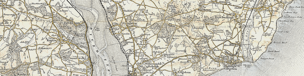 Old map of A-la-Ronde in 1899