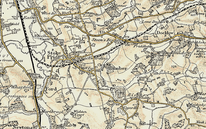 Old map of Witsetts, The in 1899-1902