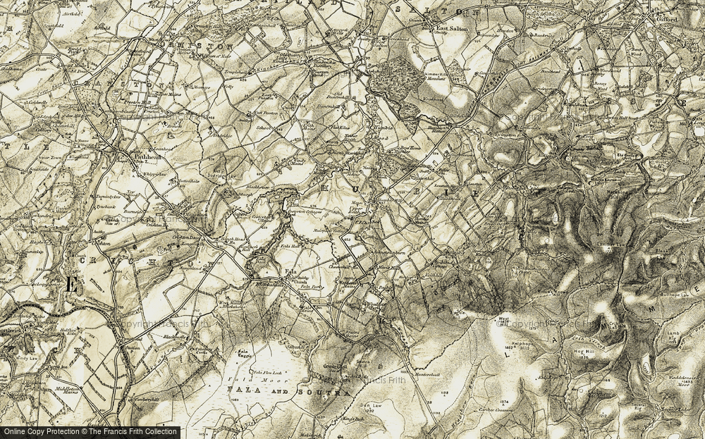 Old Map of Historic Map covering Woodcote Park in 1903-1904