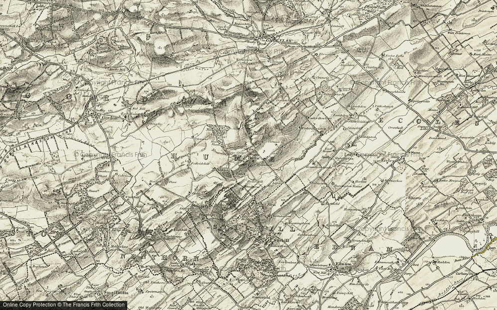 Old Map of Historic Map covering Legars in 1901-1904