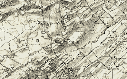 Old map of Legars in 1901-1904