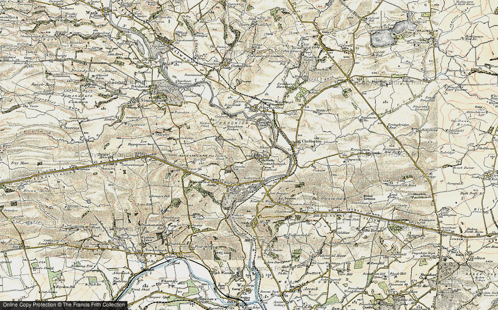 Old Map of Historic Map covering Lincoln Hill in 1901-1903