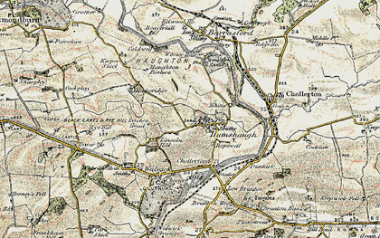 Old map of Leazes Head in 1901-1903