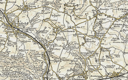 Old map of Hundall in 1902-1903
