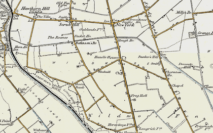 Old map of Wildmore Park in 1902-1903