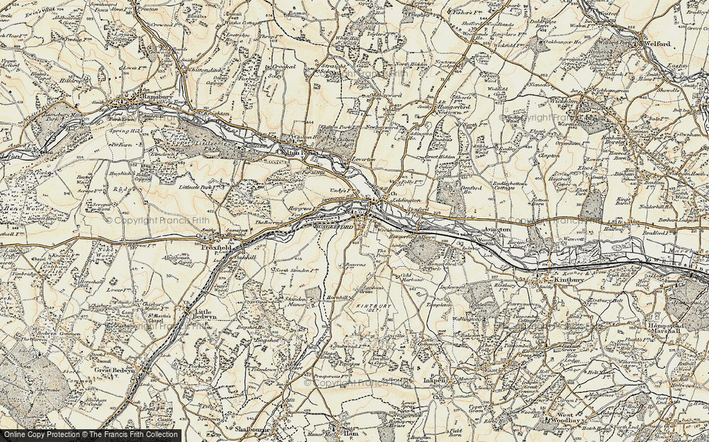 Map Of Uk 1900.Map Of Hungerford 1897 1900 Francis Frith