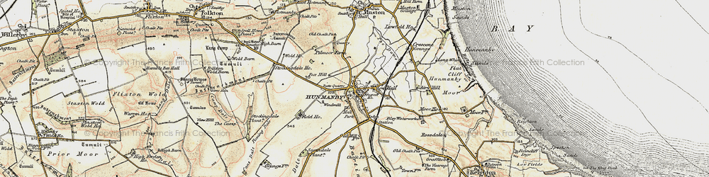 Old map of Hunmanby in 1903-1904