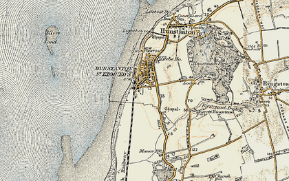 Old map of Hunstanton in 1901-1902