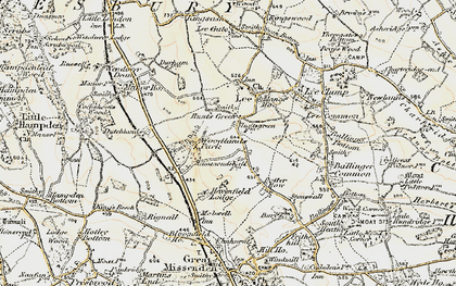 Old map of Woodlands Park in 1897-1898