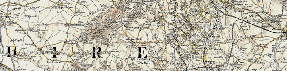 Old map of Willowmoor in 1902