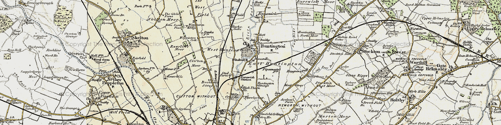Old map of Huntington in 1903-1904