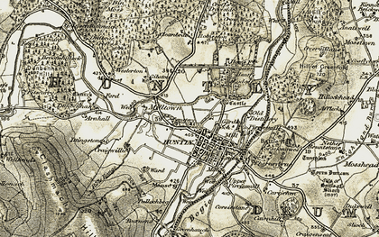 Old map of Linnorie in 1908-1910