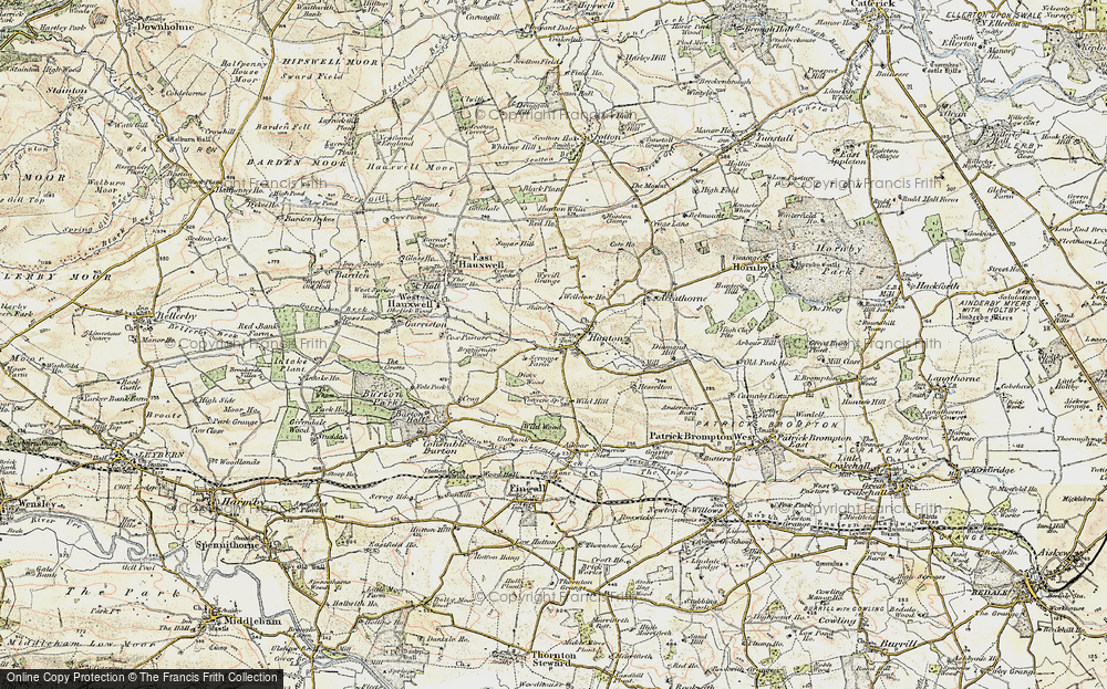 Old Map of Historic Map covering Wyvill Grange in 1904