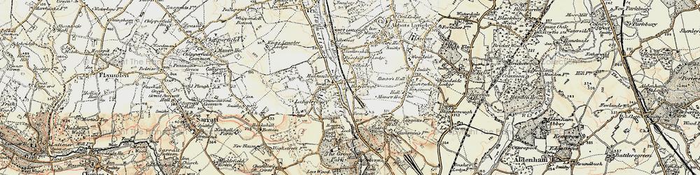 Old map of Hunton Bridge in 1897-1898